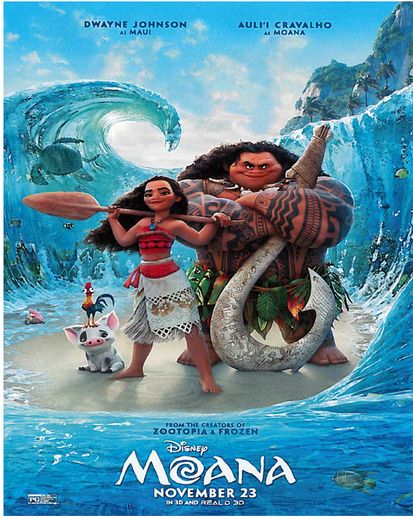 Disney's 'Moana' opens in theaters on Nov. 23.